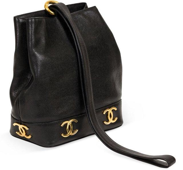 Chanel Black Caviar One Shoulder Bag