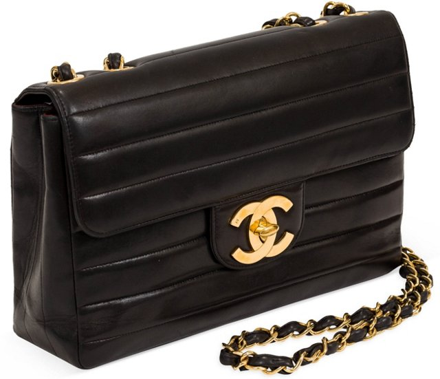 Chanel Horizontal Stripe Jumbo Flap Bag