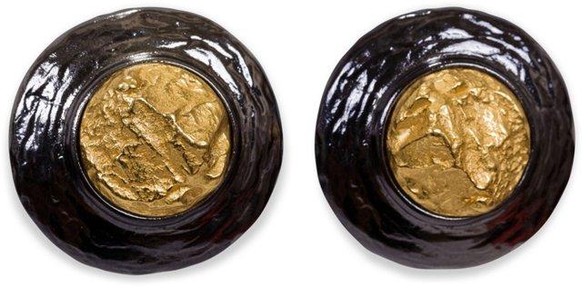 YSL Silver Gold Earrings