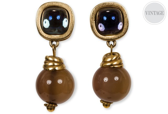Givenchy Vintage Stone Drop Earring