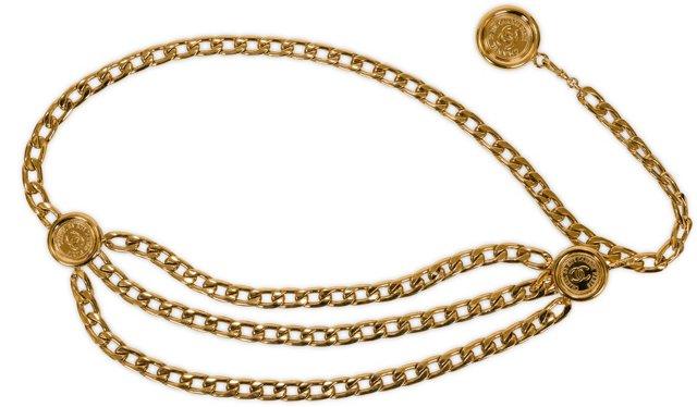 Chanel Gold 3-Tier Chain Belt