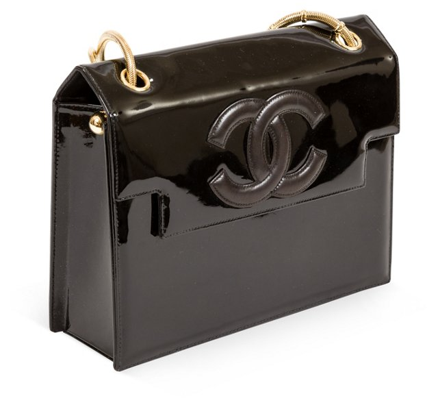Chanel Patent-Leather Box Bag