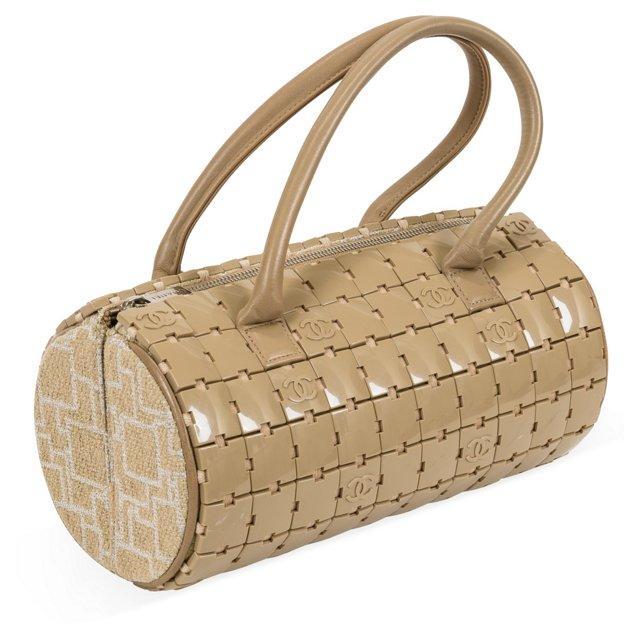 Chanel Wool Barrel Bag