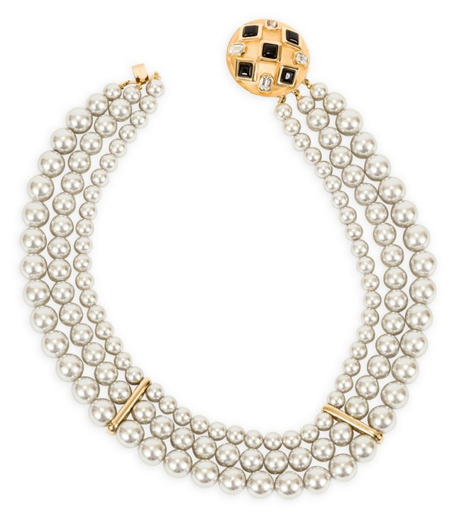 1970s Givenchy Faux-Pearl Necklace