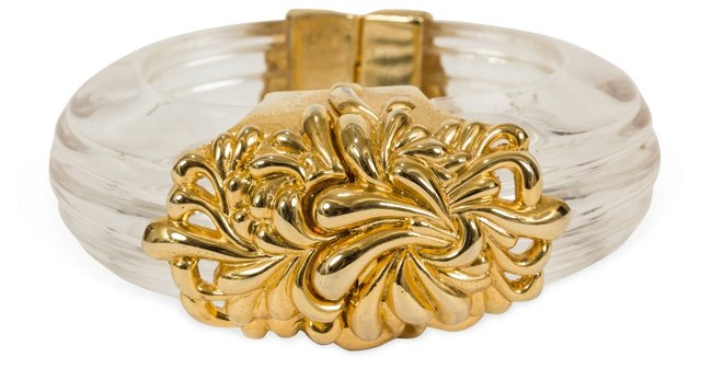 Lucite & Gold Bangle