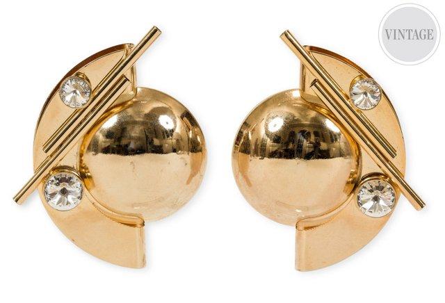 French Geometric Earrings