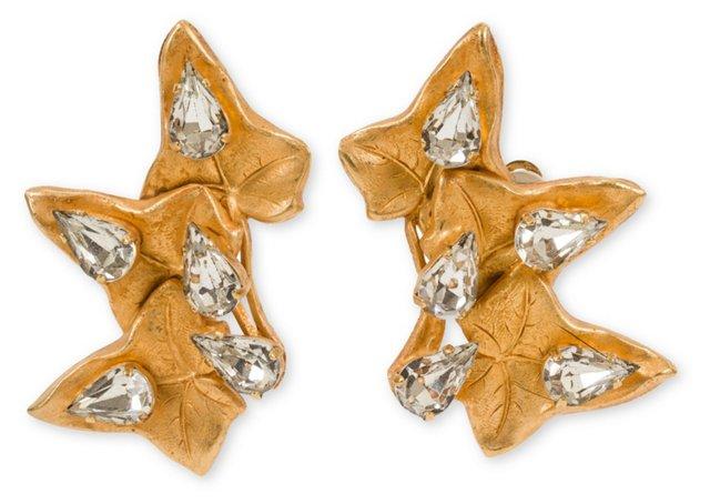 Dominique Aurientis Leaf Earrings