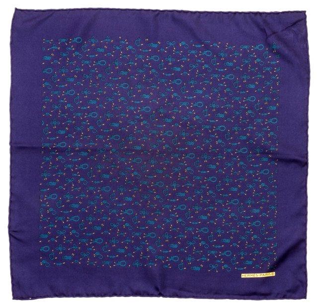 "Hermès Silk ""Noeuds"" Pocket Scarf"