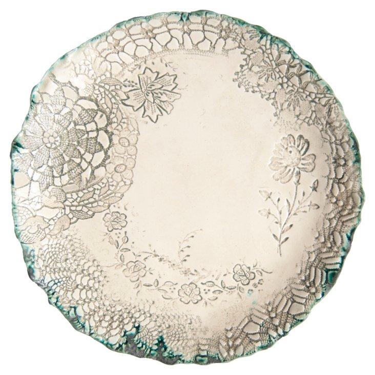 Ceramic Large Plate: Celadon