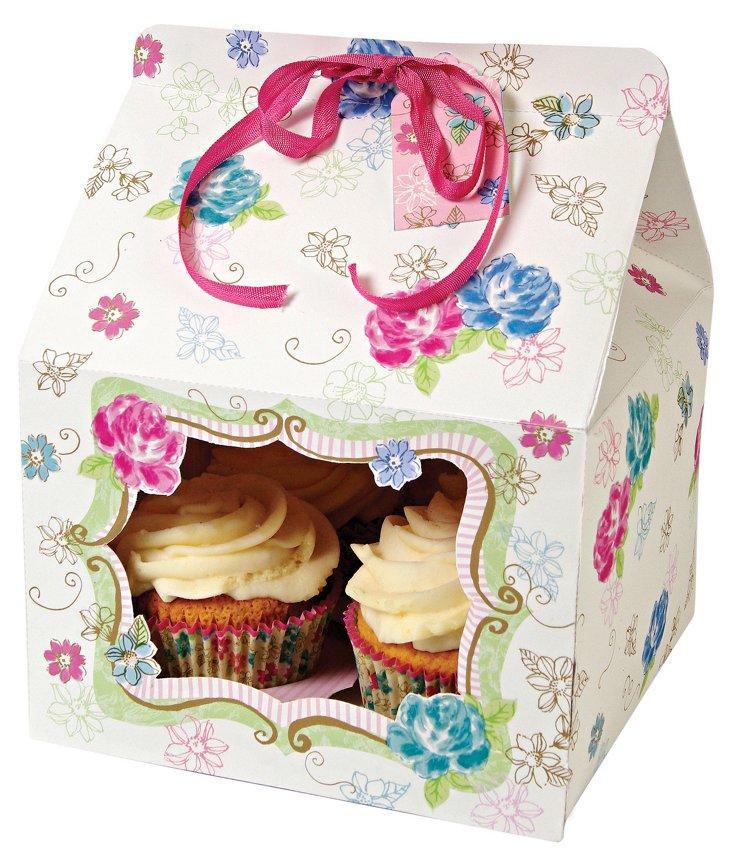 S/6 Love in the Afternoon Cupcake Boxes