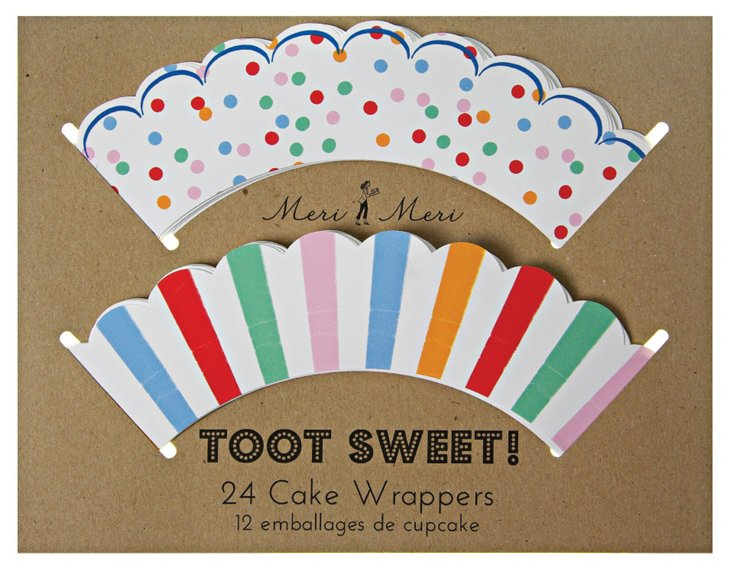 S/96 Toot Sweet Cupcake Wrappers