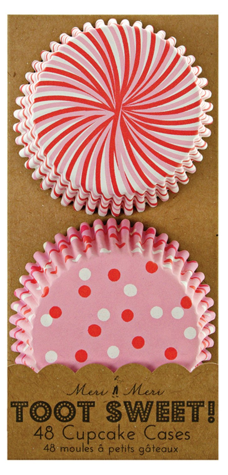 S/192 Toot Sweet Cupcake Cases, Pink