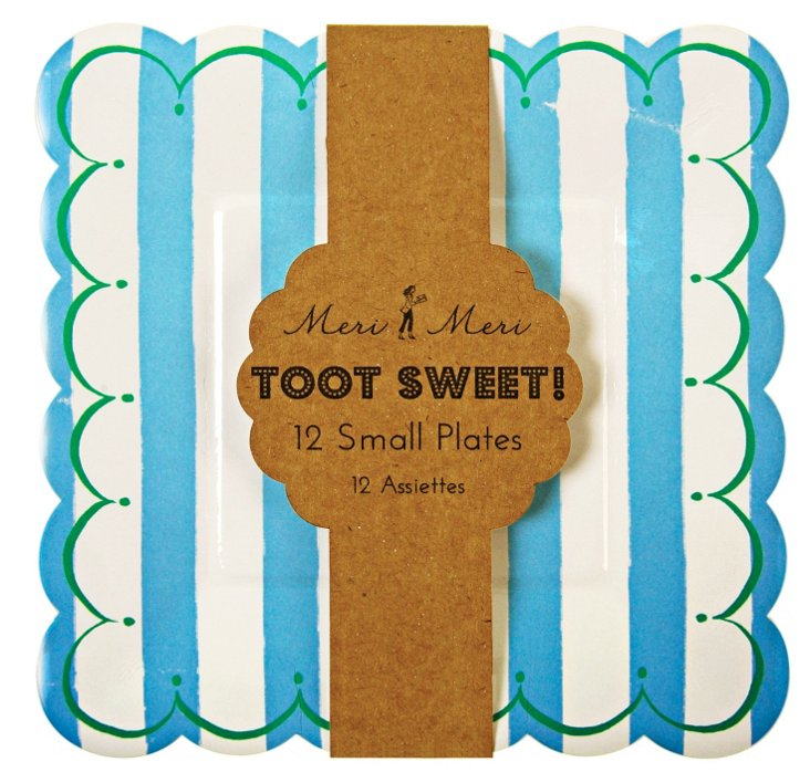S/48 Small Toot Sweet Plates, Blue