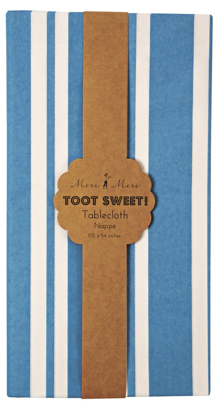 S/2 Toot Sweet Paper Tablecloths, Blue