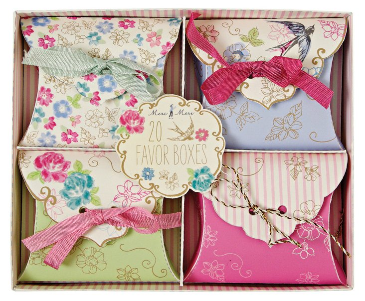 S/40 Love in the Afternoon Favor Boxes