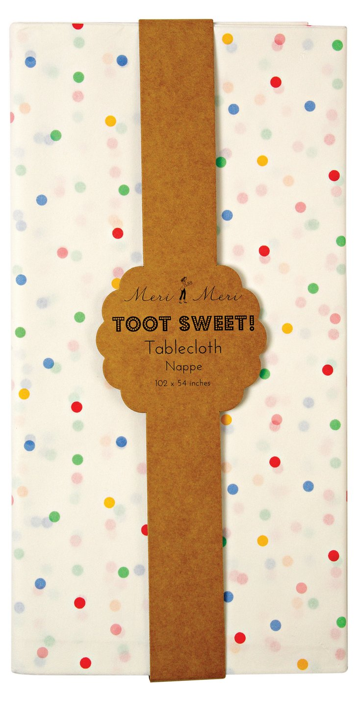 S/2 Toot Sweet Paper Spotty Tablecloth
