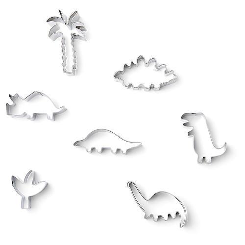 Dinosaur Cookie Cutters, Silver