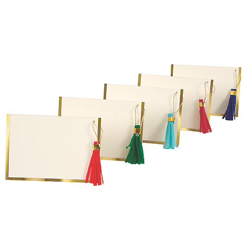 S/10 Tassel Place Cards
