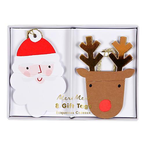 S/16 Santa & Reindeer Gift Tags