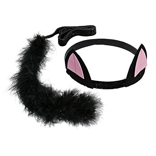 Black Cat Dress-Up Kit, Black/Pink