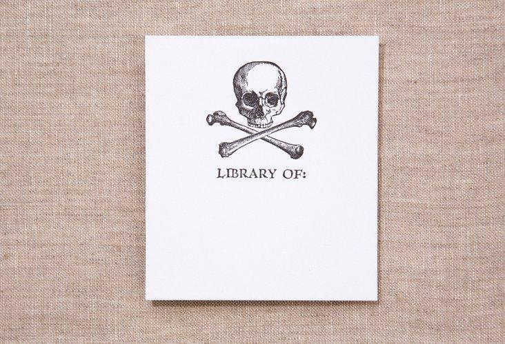 S/15 Bookplates, Skull & Cross-Bones