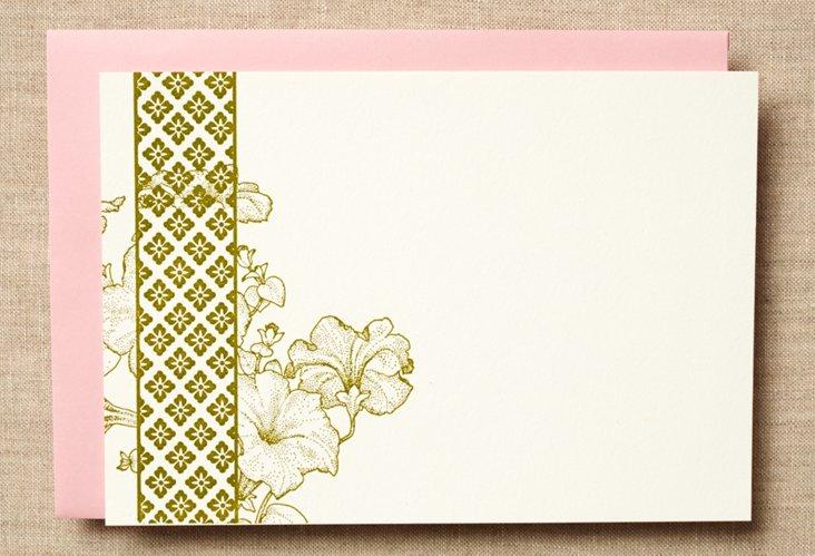 Set of 12 Spring Petunia Cards