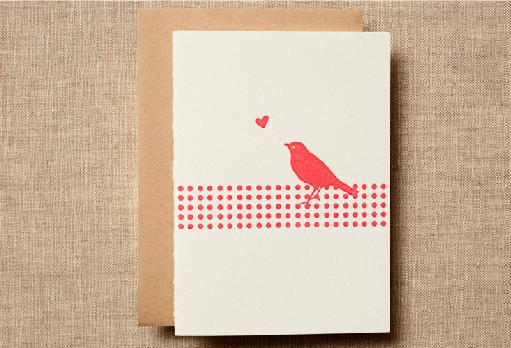 Set of 12 Pink Birdy Cards