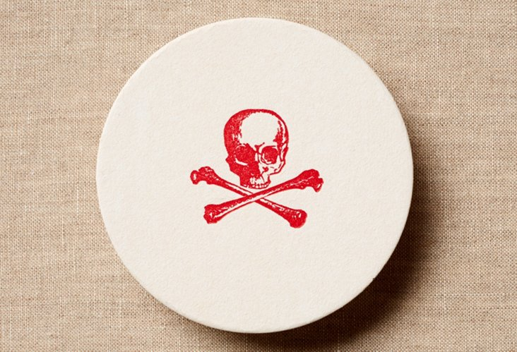 Set of 20 Red Skull Coasters