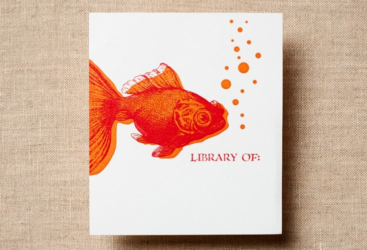 Set of 30 Goldfish Bookplates