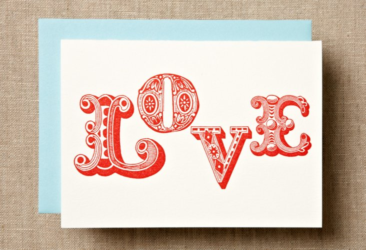 S/ 12 Ornamental Love Card