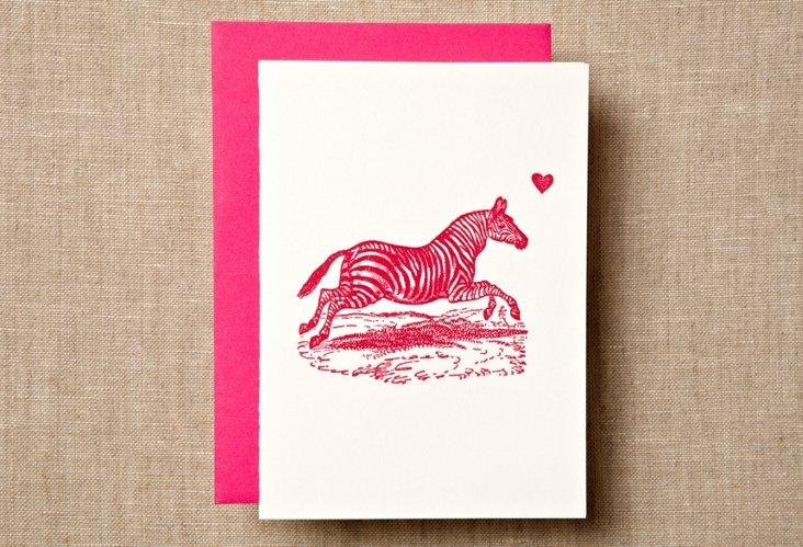 S/12 Zebra Note Cards