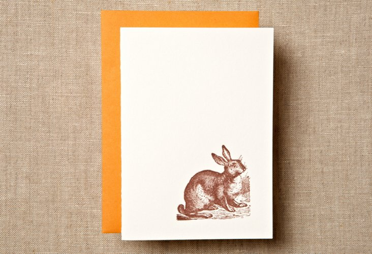 S/12  Bunny Note Card