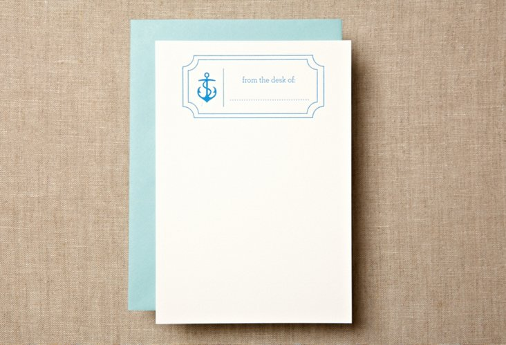 S/12 Anchor Desk Note Cards
