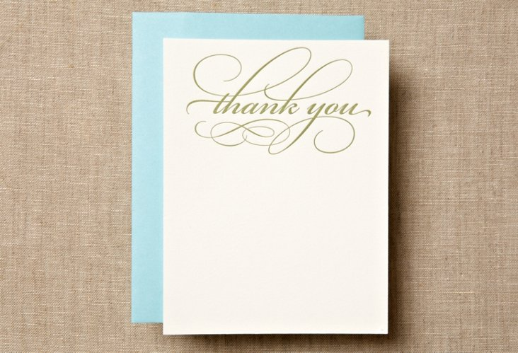 S/12  Swirly Thank You Cards