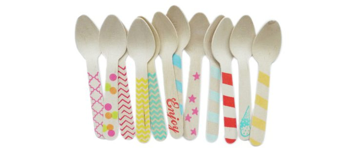 S/40 Assorted Wooden Spoons, Multi