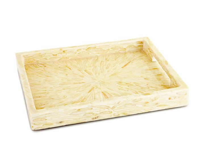 "16"" Wood Tray, Almond"