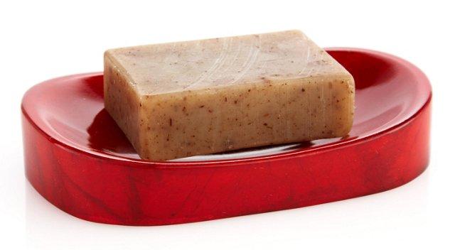 Soap Dish, Red Goatskin