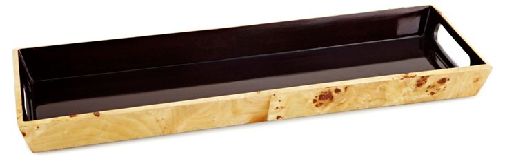 17x6 Pioppo Veneer Tray, Brown