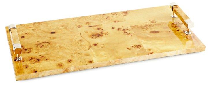 20x10 Pioppo Veneer Tray w/ Alpaca