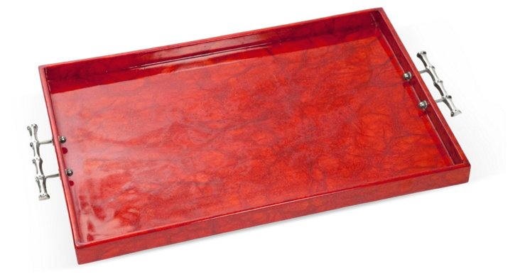 """24""""x16"""" Red Rice Paper Tray"""