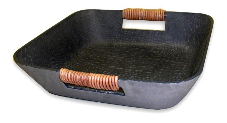 Grey Snake Leather Tray