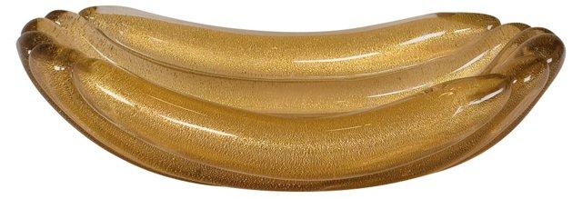 C. 1950 Gold Murano Bowl I