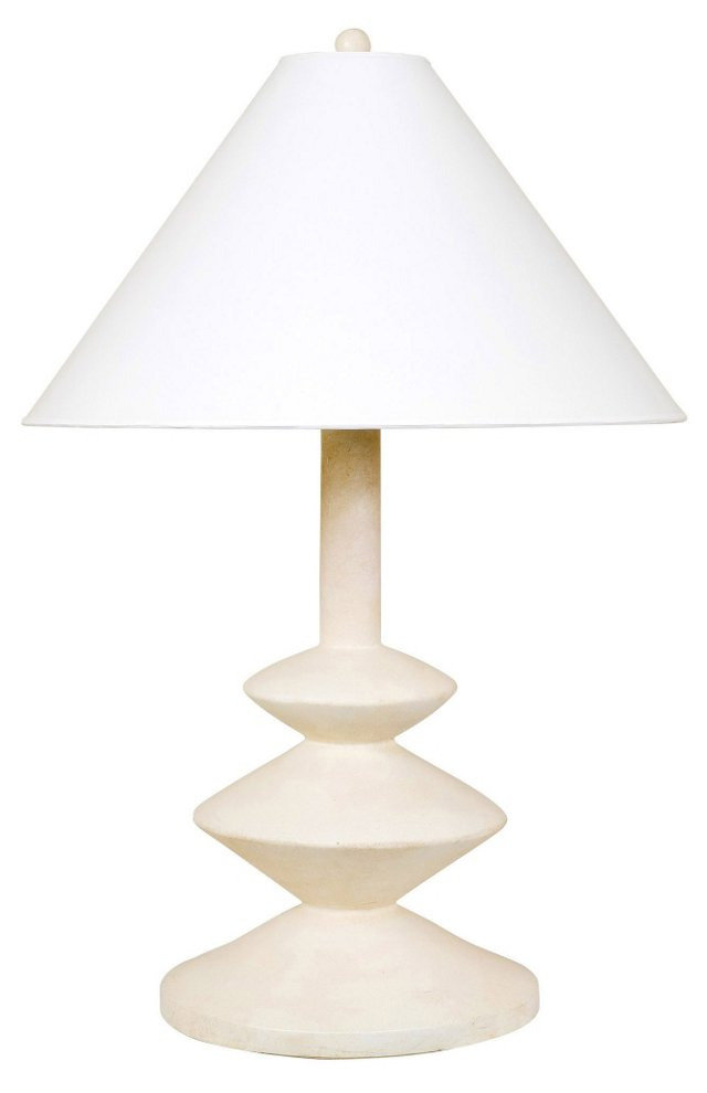 C. 1960 Giacometti-Style Plaster Lamp