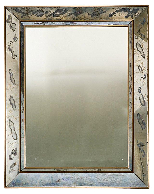 Vintage Shadowbox Églomisé Mirror