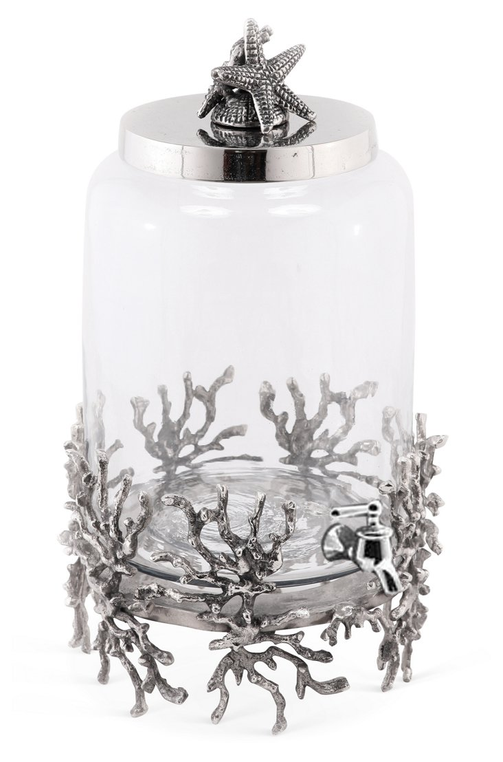 Shell & Coral Beverage Dispenser