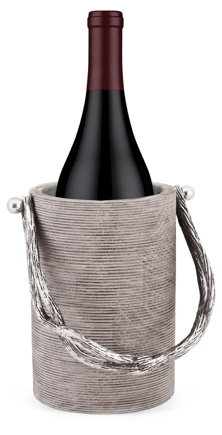 Weathered Wood Wine-Bottle Caddy