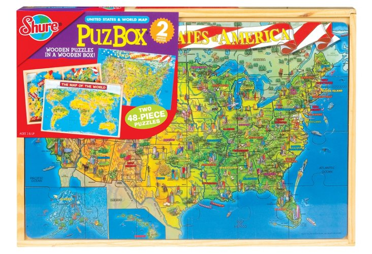 U.S. and World Map Puzzles