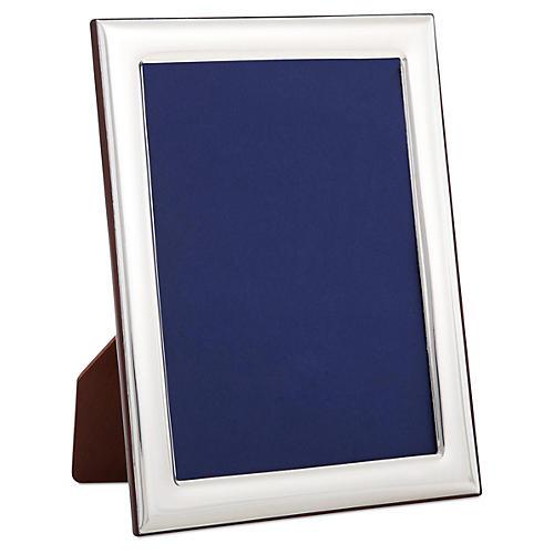 Sterling-Silver Plain Deco Frame, 4x6