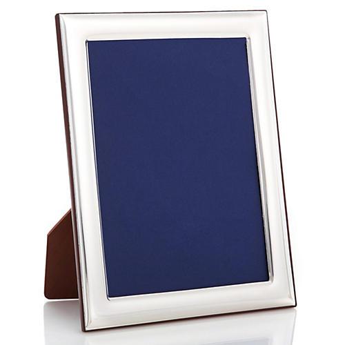Sterling-Silver Plain Deco Frame, 5x7