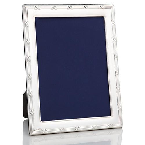 Sterling Silver Ribbon Frame, 5x7